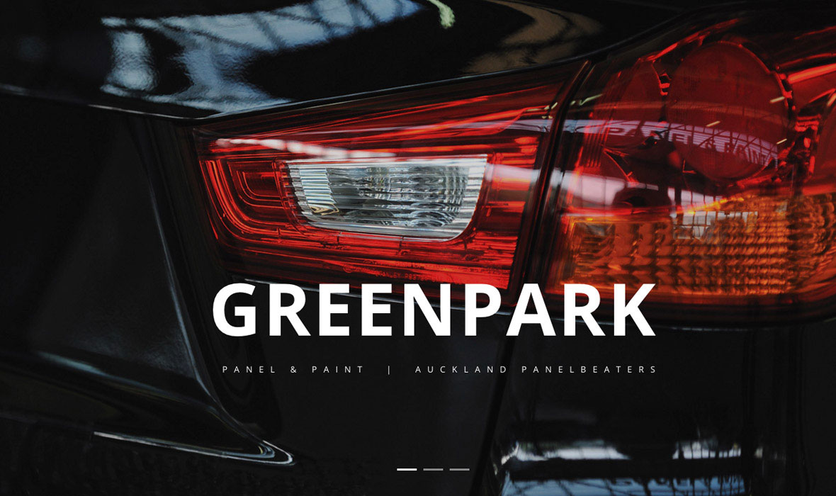 Greenpark Panel photography and web design Auckland