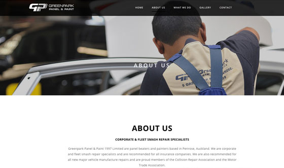 Greenpark photography and responsive web design Auckland