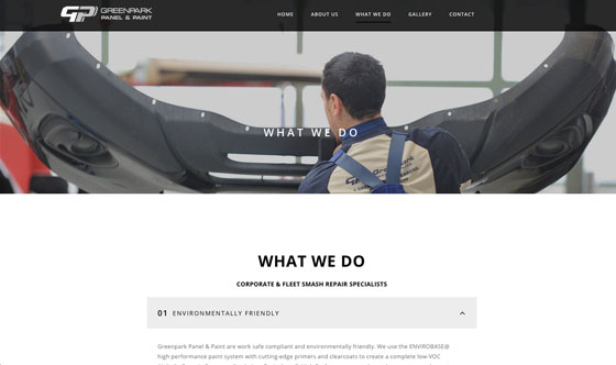 Industrial website - photography / web design Auckland