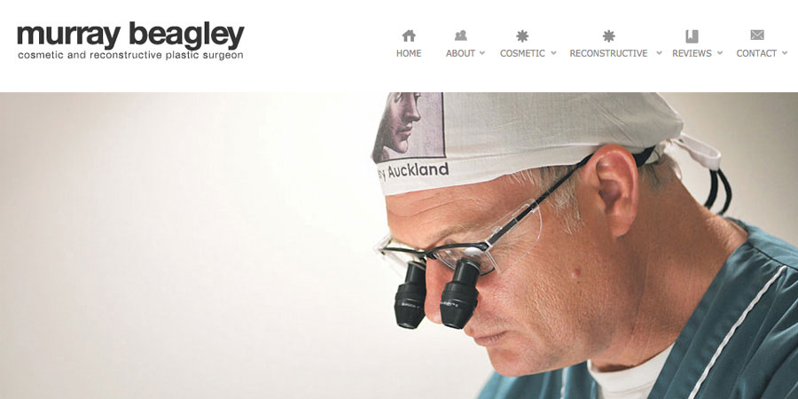 Web design Auckland Murray Beagley Plastic Surgery Auckland