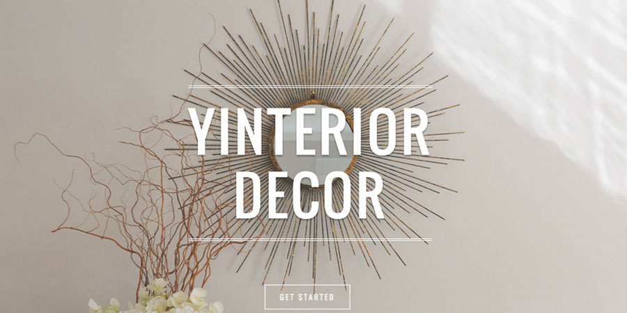 Yinterior Decor small business website design Auckland