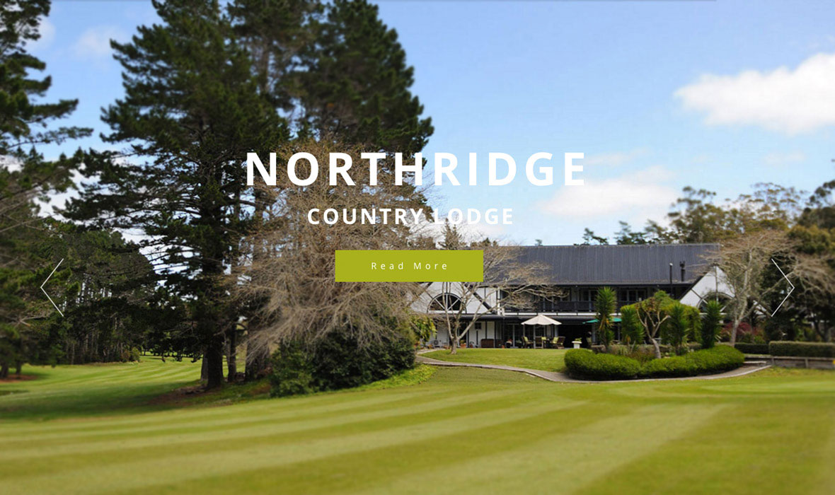 Northridge Country Lodge Auckland web design