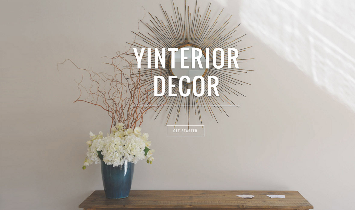 Yinterior Decor branding and web design Auckland
