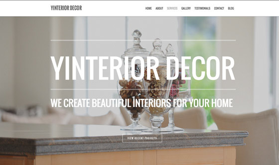 Yinterior branding and small business website Auckland