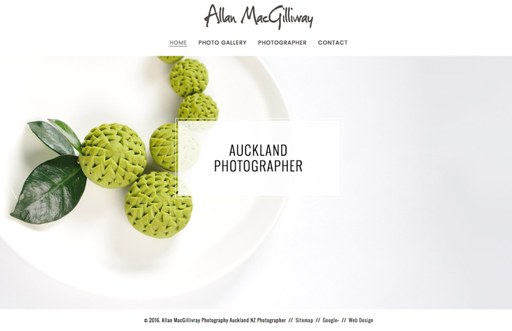 Auckland Photography Web Design & Branding
