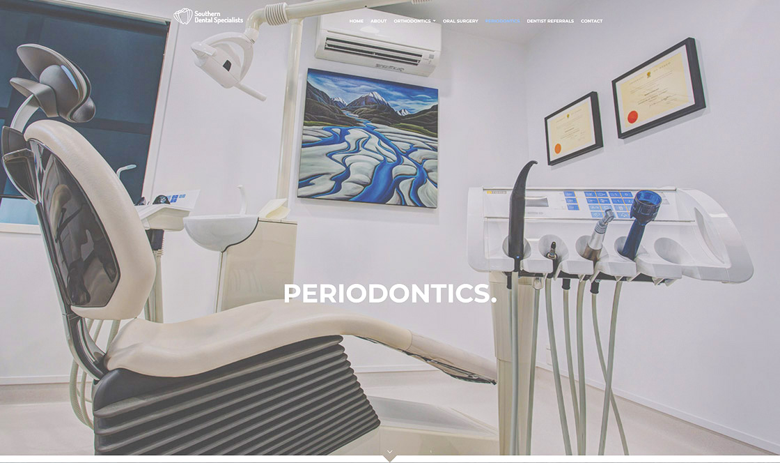 SOUTHERN DENTAL SPECIALISTS dental website design Auckland
