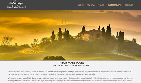 Italy tours tourism web design